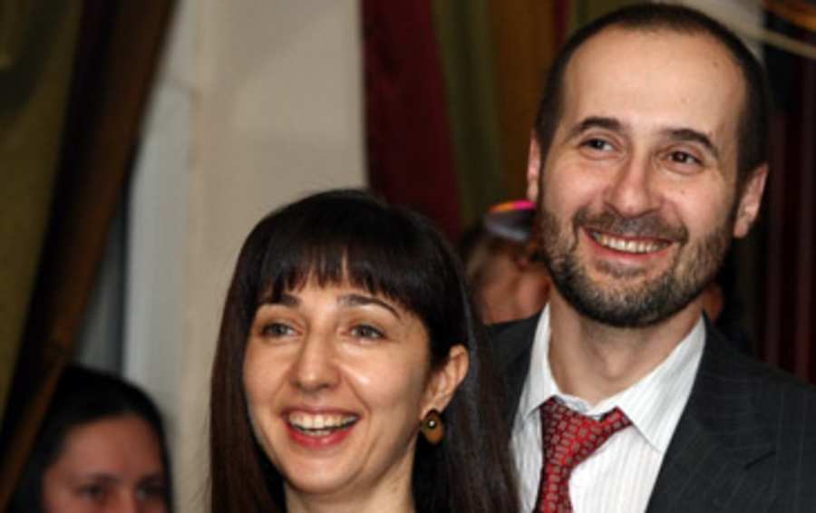 Андрей Мовчан с супругой Ольгой