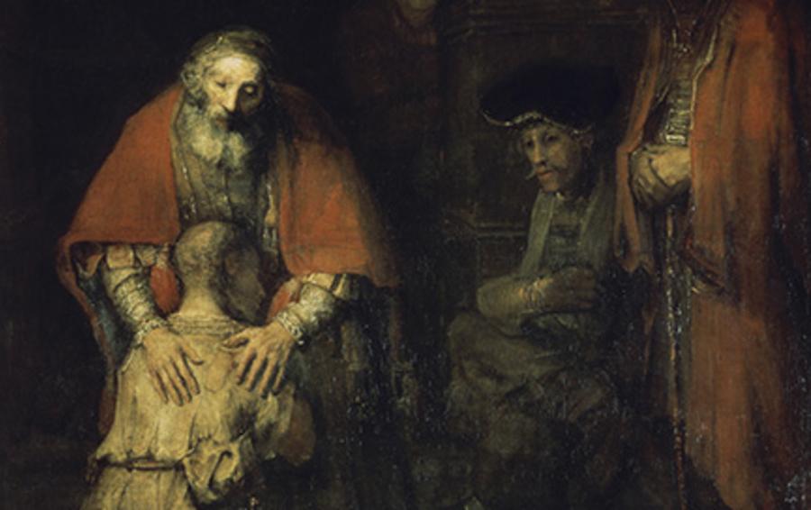 фрагмент картины Рембрандта «Возвращение блудного сына»