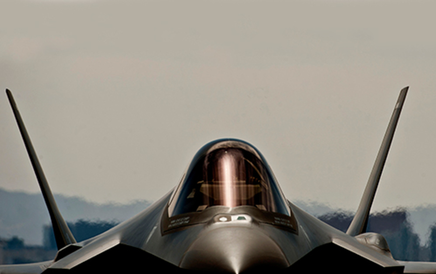 Истребитель-бомбардировщик F-35A «Lightning-II».