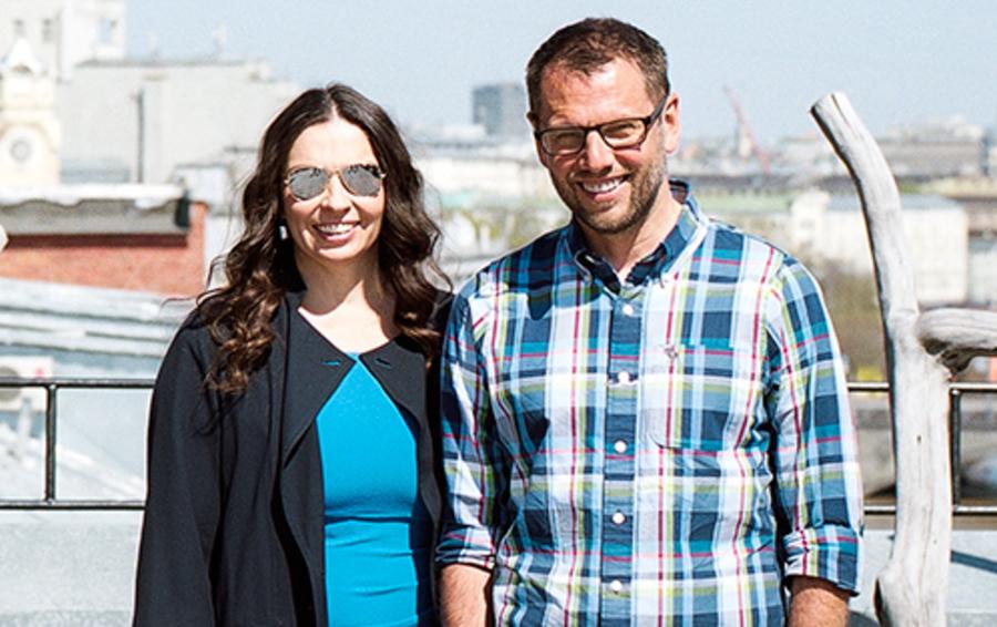 Наталья Синдеева и Александр Винокуров