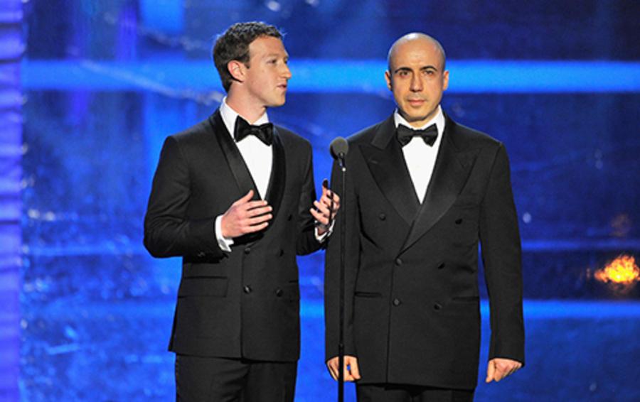 Марк Цукерберг и Юрий Мильнер на вручении премии Breakthrough Prize.