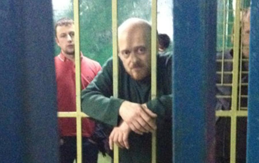 Алексей Каменский в ОВД «Красносельское»