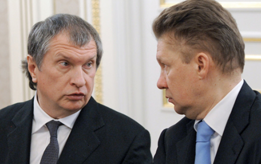 Игорь Сечин и Алексей Миллер
