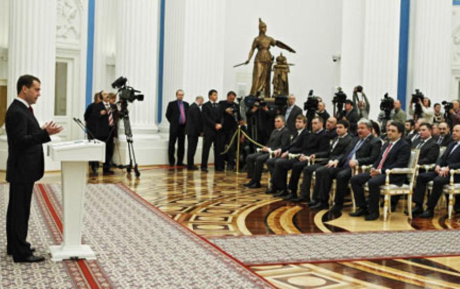 Встреча Дмитрия Медведева с лидерами незарегистрированных партий