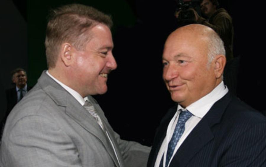 Георгий Боос и Юрий Лужков