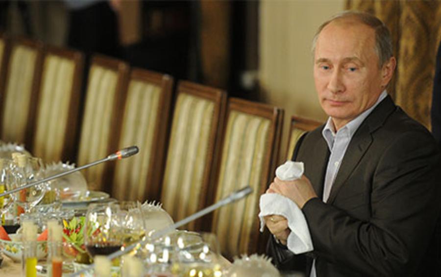Владимир Путин во время заседания Международного дискуссионного клуба «Валдай»