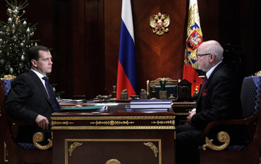 Дмитрий Медведев и Михаил Федотов