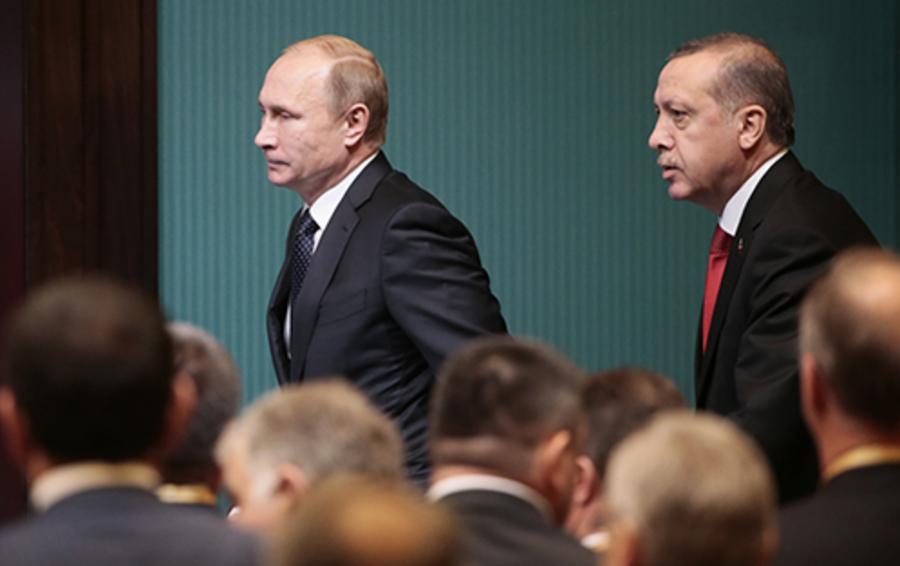 Президент России Владимир Путин и президент Турции Реджеп Тайип Эрдоган.