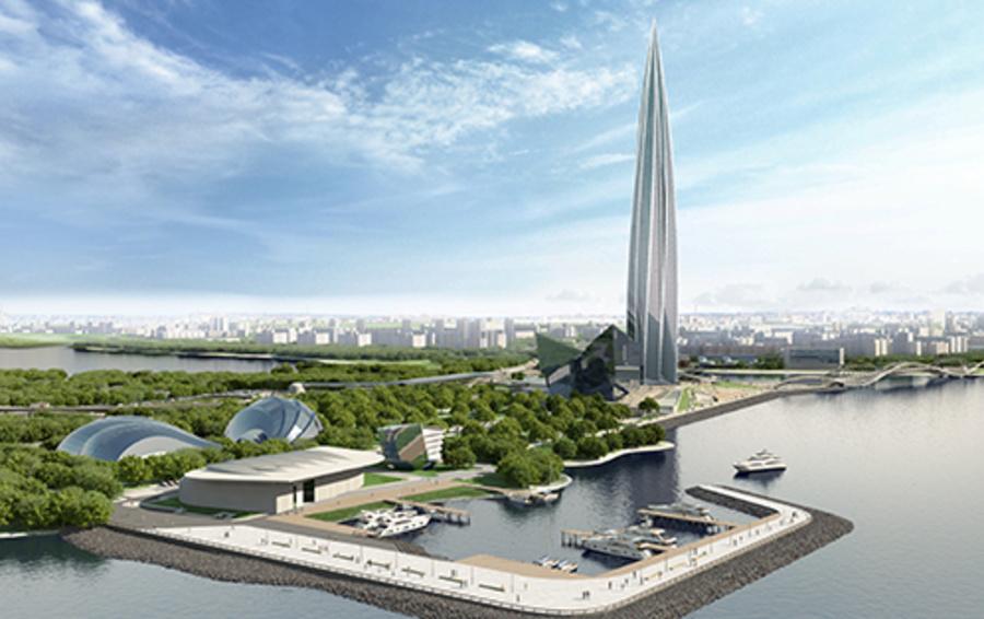 Стройка «Лахта-центра», главного офиса «Газпрома», должна быть завершена в 2018 году. Здание будет расположено на берегу Финского залива