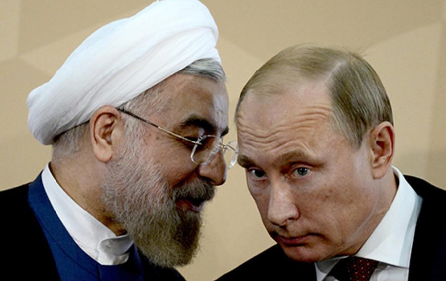 Президенты Ирана и России Хассан Роухани и Владимир Путин