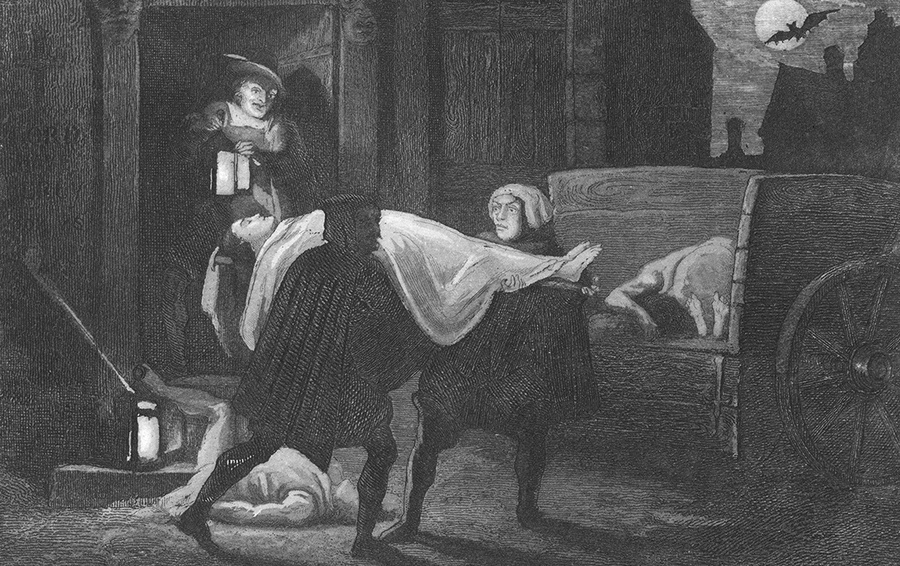 During the Plague of London (1665)