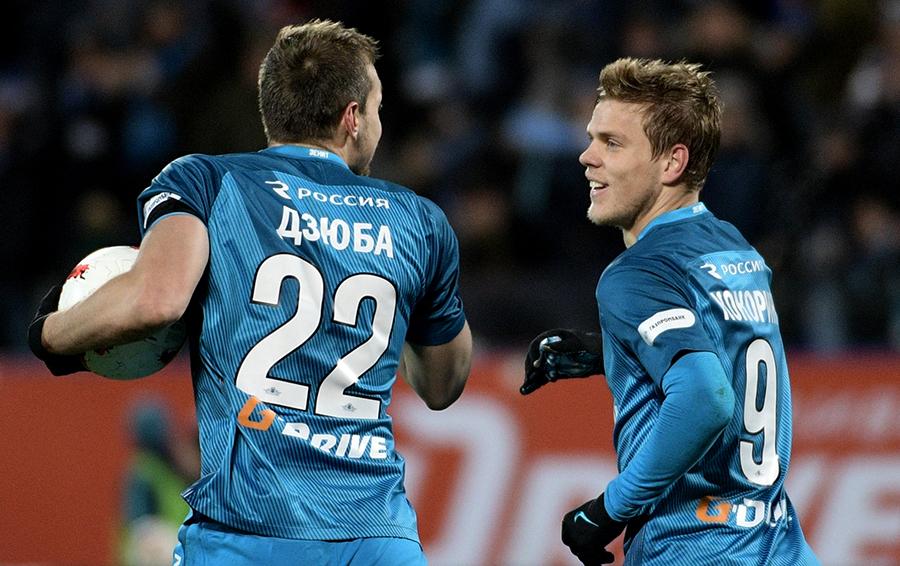 Самые высокооплачиваемые российские игроки – Александр Кокорин и Артем Дзюба – на двоих получают в «Зените» больше €6 млн в год