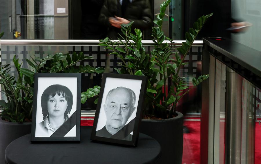 Фотографии Натальи Филевой, председателя и совладельца российской авиакомпании S7 и ее отца Валерия Карачева, погибших в авиакатастрофе под Франкфуртом.