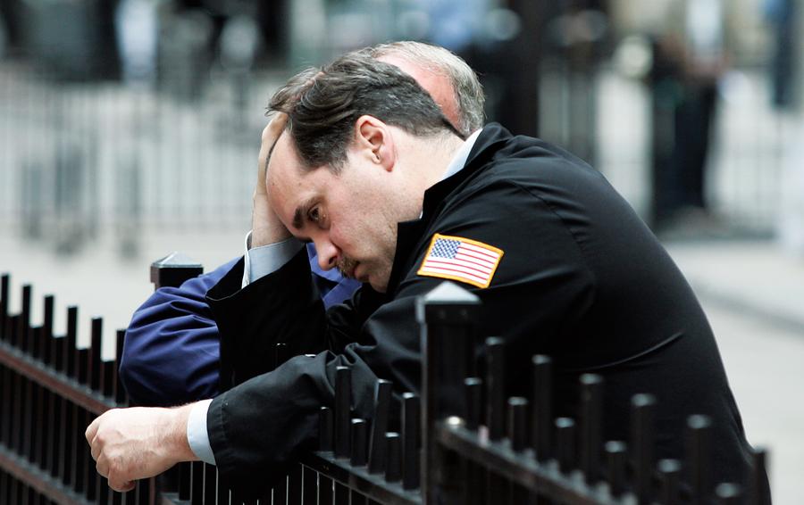 Трейдер Нью-Йоркской фондовой биржи 29 сентября 2008 года