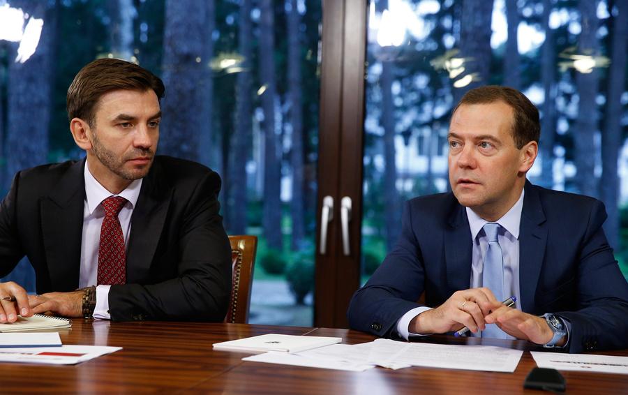 Михаил Абызов и Дмитрий Медведев
