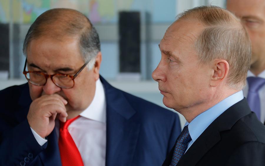 Алишер Усманов и Владимир Путин.