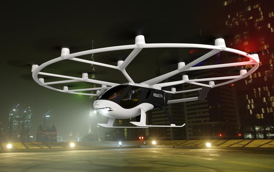 Немецкий стартап Volocopter представил проект летающего такси