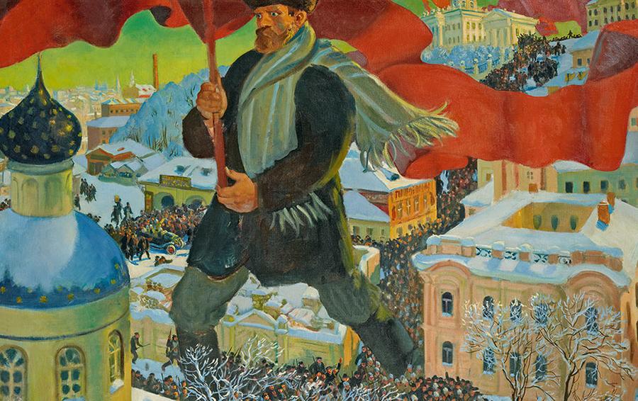 Борис Кустодиев «Большевик»
