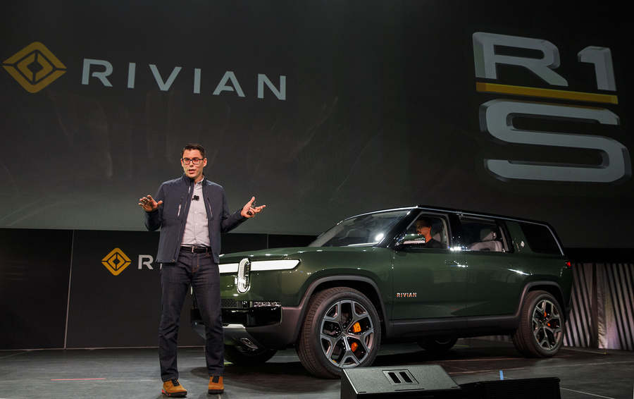 RJ Scaringe, founder and chief executive officer of Rivian Automotive Inc.