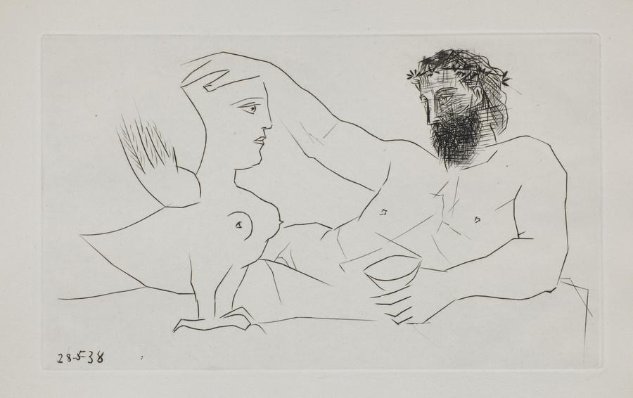Пабло Пикассо. Иллюстрация к сборнику стихов Afat. 1940