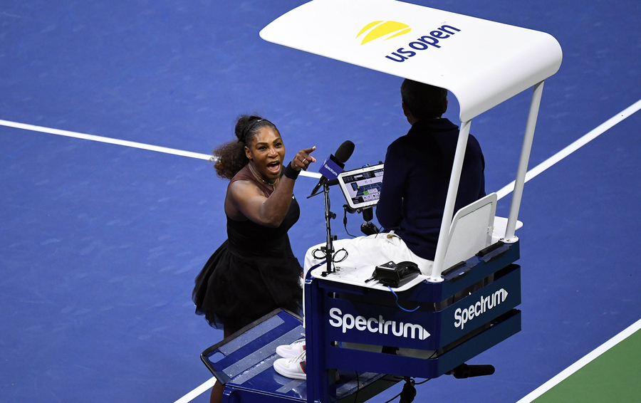Серена Уильямс в финале US Open.