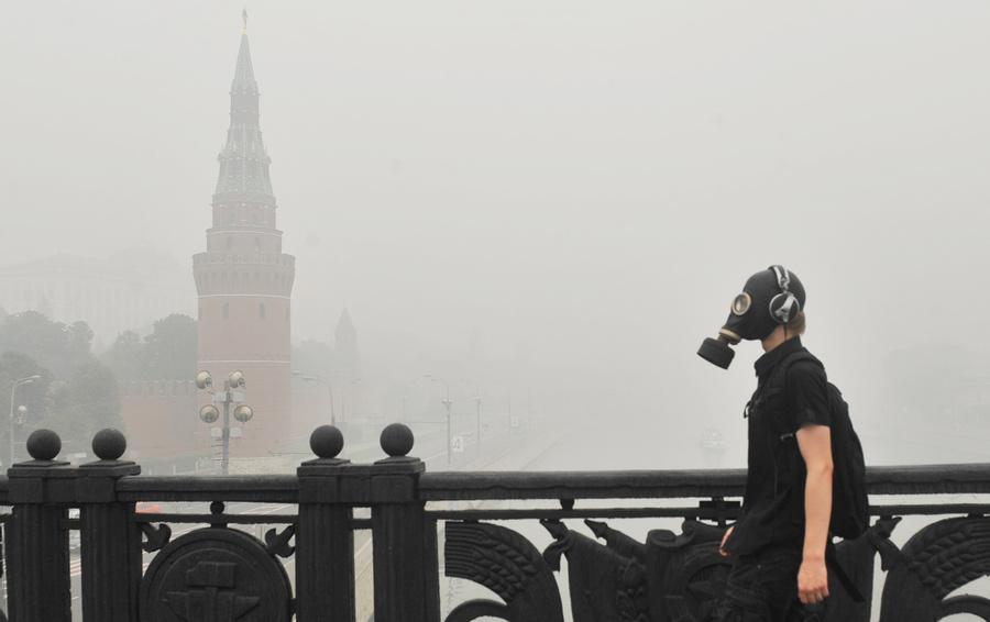 Смог над Москвой. 8 августа 2010 года