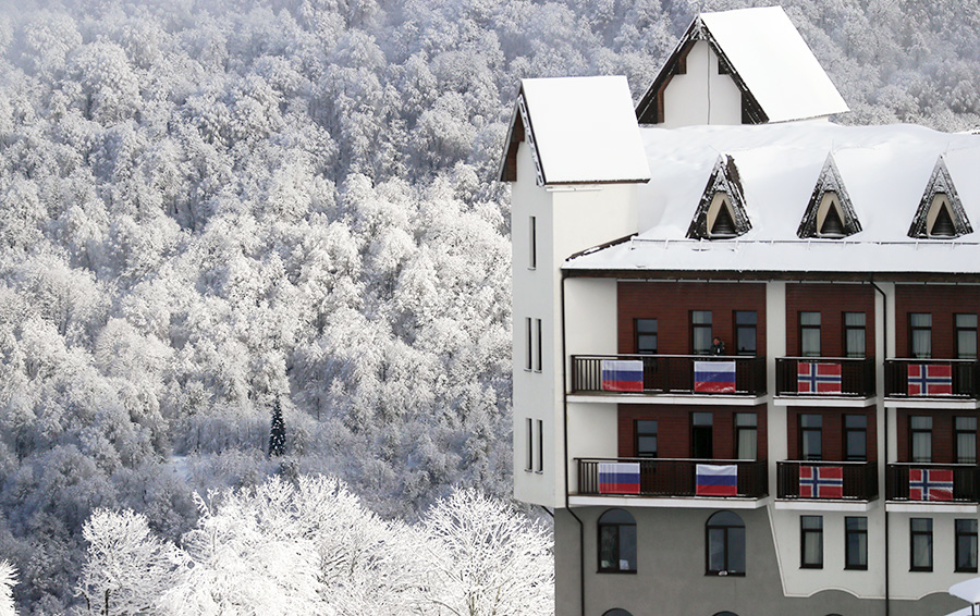 Вид на гостиницу горнолыжного курорта