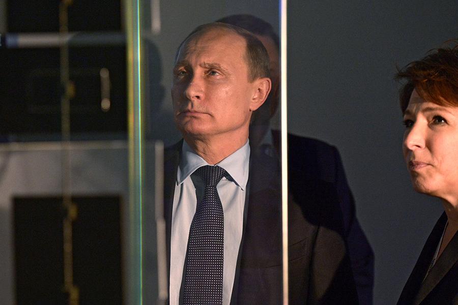 Ноябрь 2015-го. Владимир Путин и Татьяна Юмашева в музее Бориса Ельцина в Екатеринбурге