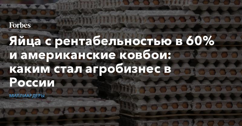 Яйца с рентабельностью в 60% и американские ковбои: каким стал агробизнес в России. Фото | Миллиардеры | Forbes.ru