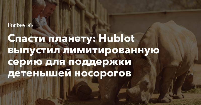 Спасти планету: Hublot выпустил лимитированную серию для поддержки детенышей носорогов | ForbesLife | Forbes.ru