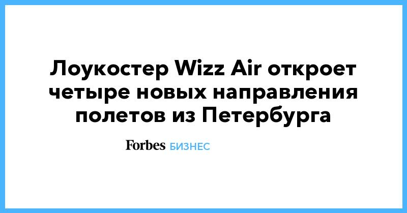 Лоукостер Wizz Air откроет четыре новых направления полетов из Петербурга | Бизнес | Forbes.ru