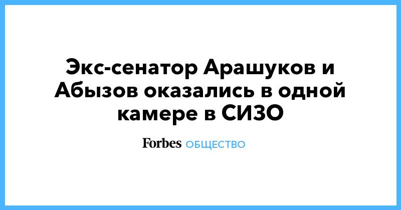 Экс-сенатор Арашуков и Абызов оказались в одной камере в СИЗО | Общество | Forbes.ru