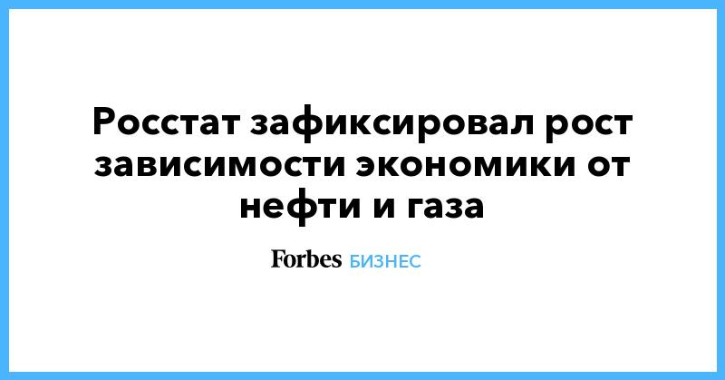 Росстат зафиксировал рост зависимости экономики от нефти и газа   Бизнес   Forbes.ru