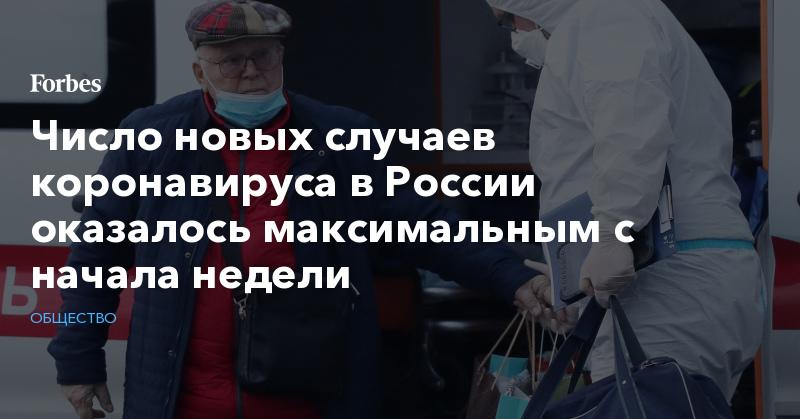 Число новых случаев коронавируса в России оказалось максимальным с начала недели