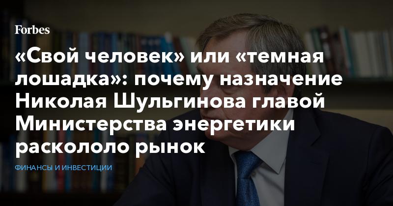 «Свой человек» или «темная лошадка»: почему назначение Николая Шульгинова главой Министерства энергетики раскололо рынок