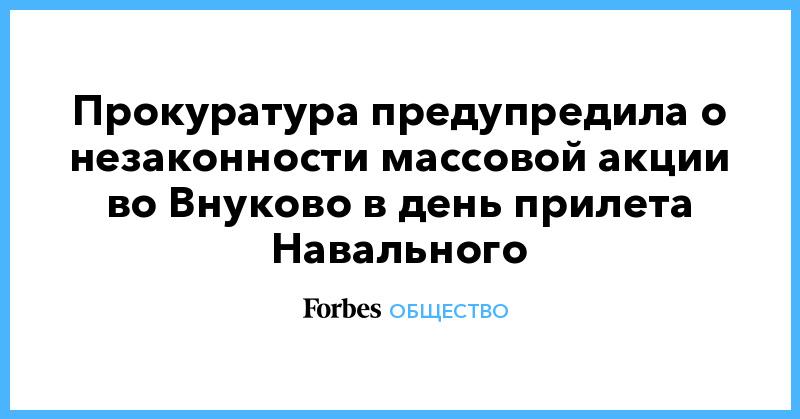 Прокуратура предупредила о незаконности массовой акции во Внуково в день прилета Навального