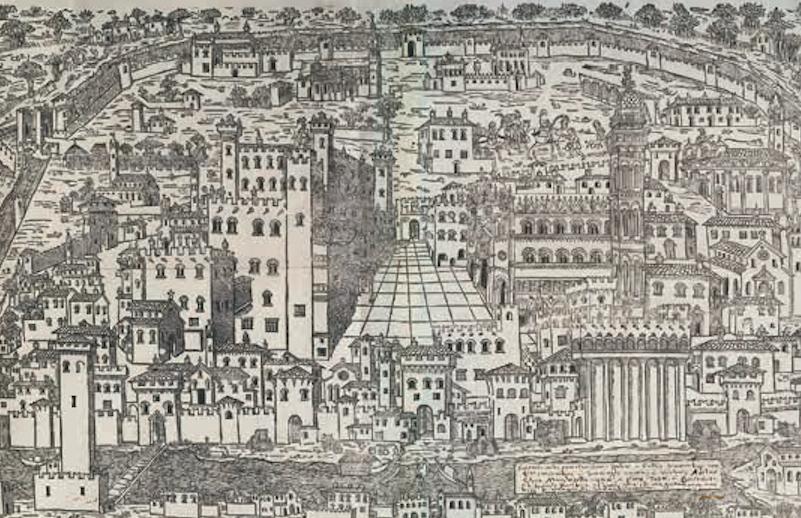 1499. Гравюра на дереве Модена, Библиотека Эстенсе