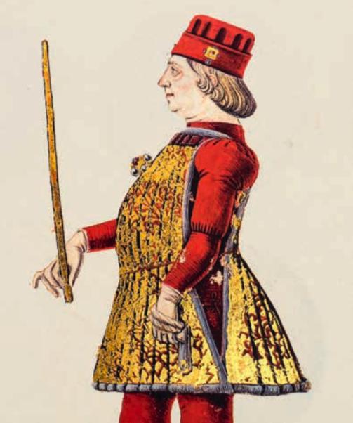 Бальдассаре д'Эсте Портрет Борсо д'Эсте, иллюстрация из кодекса Генеалогия д'Эсте (фрагмент)