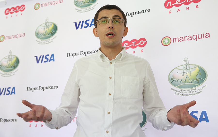 Александр Платонов на презентации проекта «Зеленый мир» на базе «Лето Банка»