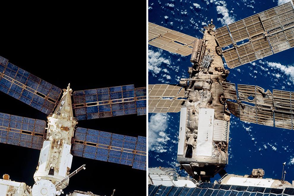 Даже после такого избиения одного из важнейших модулей «Мира» станция еще годами летала в космосе — и никого оттуда досрочно не эвакуировали.